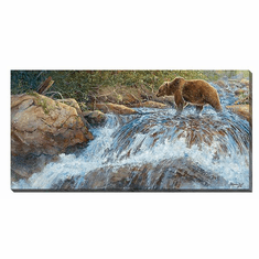 """Valeria Yost Open Edition Gallery Wrapped Canvas:""""Wilderness Walk—Grizzly"""""""