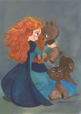 """Victoria Ying Hand Signed and Numbered Giclée: """"Snorgle Time"""""""