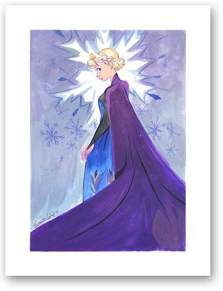 "Victoria Ying Signed and Numbered Giclée on Archival Watercolor Paper:""Snow Queen"""