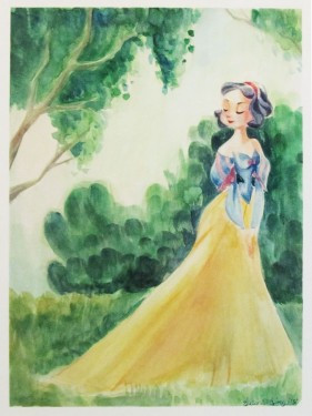 """Victoria Ying Signed and Numbered Giclée on Archival Watercolor Paper:""""The Beauty of Snow in the Spring"""""""