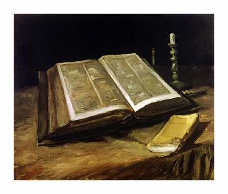 "Vincent Van Gogh Fine Art Open Edition Giclée:""The Bible: Still Life"""