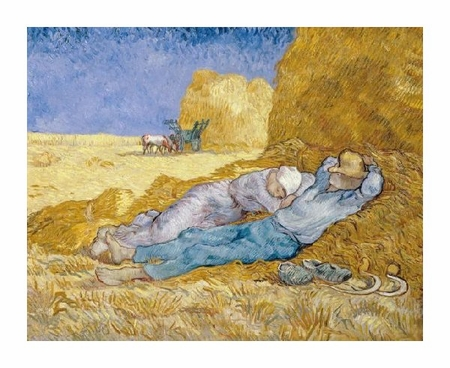"Vincent Van Gogh Fine Art Open Edition Giclée:""The Siesta (La Siesta)"""