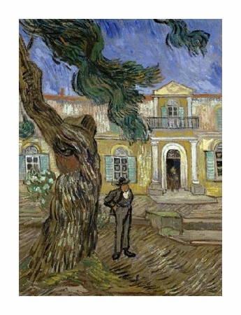 "Vincent Van Gogh Fine Art Open Edition Giclée:""Tree and Man (Saint Paul Hospital at Saint Remy)"""