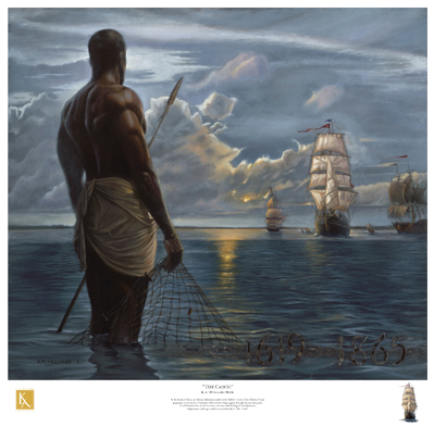 """Kevin A. Williams (WAK) Limited Edition Signed Lithograph Ed. 850:""""The Catch"""""""