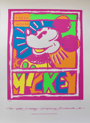 """Walt Disney Limited Edition Serigraph Art Fresh Mouse:""""Mickey Mouse"""""""