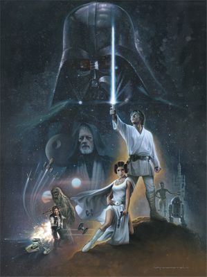 "Jerry Vanderstelt Star Wars Limited Edition Canvas Giclee: ""The Hopeful"""