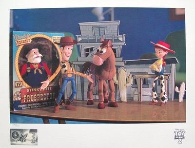 """Walt Disney Studios Limited Edition Giclee Animation:""""Toy Story 2 """"Woody's Finest Hour"""""""""""
