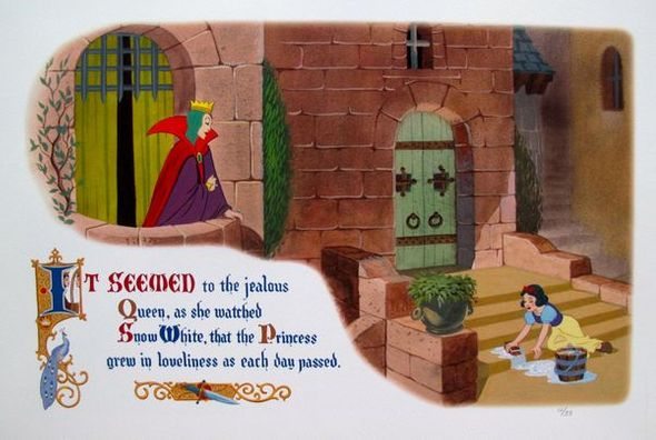 """Walt Disney Studios Limited Edition Lithograph:""""Snow White: And The Evil Queen"""""""