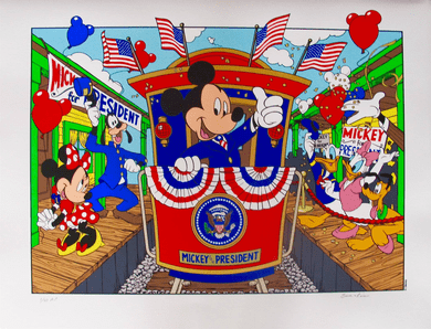 "Walt Disney Studios Limited Edition Serigraph:""Mickey Mouse For President"""