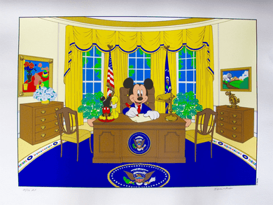 """Walt Disney Studios Limited Edition Serigraph:""""Mickey Mouse For President"""""""
