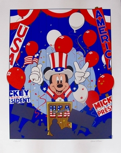 """Walt Disney Studios Limited Edition Serigraph:""""Mickey Mouse For President Convention"""""""