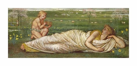 """Walter Crane Fine Art Open Edition Giclée:""""The Earth and Spring"""""""