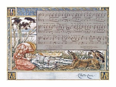 "Walter Crane Fine Art Open Edition Giclée:""The Three Ravens"""