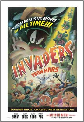 """Warner Bros. Limited Edition Lithograph Signed by Juan Ortiz:""""Invaders from Mars!"""""""