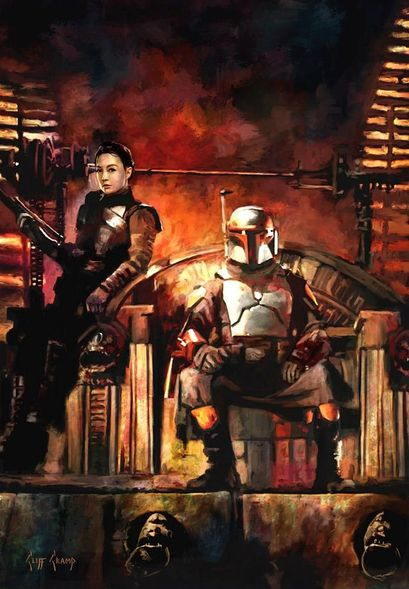 """Cliff Cramp Artist Signed  Mandalorian Limited Edition Canvas Giclee:""""Taking Court"""""""