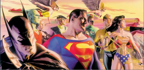 """Alex Ross Artist Signed Limited Proof Edition Giclee on Paper:""""In The Light of Justice"""""""
