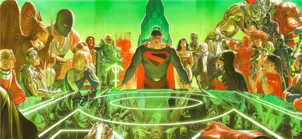 """Alex Ross Artist Signed Limited Edition LTL Canvas Giclee:""""Kingdom Come"""""""
