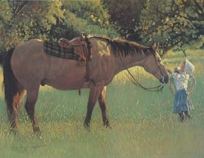 """Wayne Baize Hand Signed and Numbered Limited Edition Lithograph On Paper """"Best of Friends"""""""