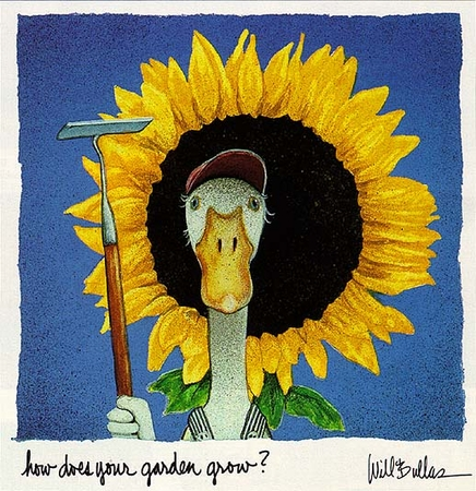 """Will Bullas Fine Art Limited Edition Paper :""""How Does Your Garden Grow?"""""""