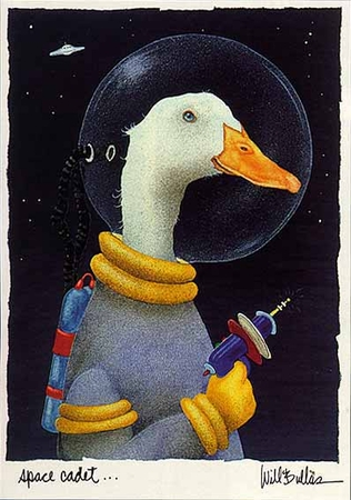 """Will Bullas Fine Art Limited Edition Paper :""""Space Cadet"""""""