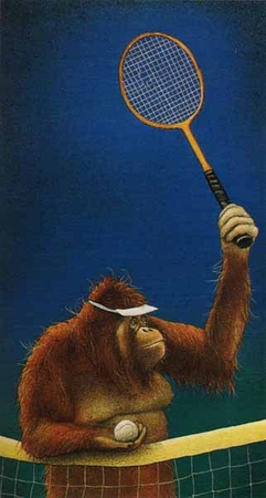 """Will Bullas Fine Art Limited Edition Paper :""""Tennis Anyone?"""""""