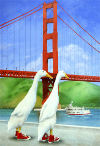 """Will Bullas Fine Art Open Edition Canvas :""""Red and White Fleet"""""""