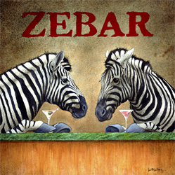 "Will Bullas Fine Art Open Edition Canvas :""Zebar"""