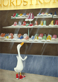 """Will Bullas Fine Art Signed Open Edition Canvas :""""Baby Needs a New Pair of Shoes"""""""