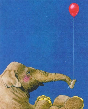 """Will Bullas Fine Art Signed Open Edition Paper :""""The Red Balloon"""""""