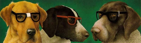 """Will Bullas Limited Edition Print: """"The Nerd Dogs"""""""