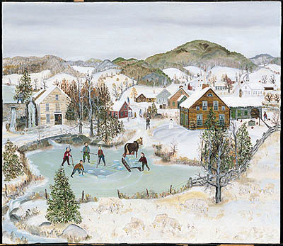 """Will Moses Handsigned & Numbered Limited Edition Serigraph:""""Ice Pond """""""