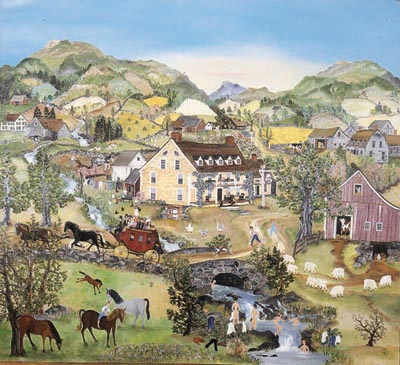 """Will Moses Handsigned & Numbered Limited Edition Serigraph:"""" Springtime in Bullfrog Hollow"""""""