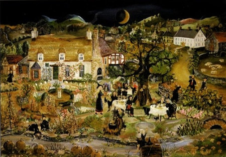 """Will Moses Handsigned and Numbered Limited Edition Serigraph on Paper :""""The Garden Club"""""""