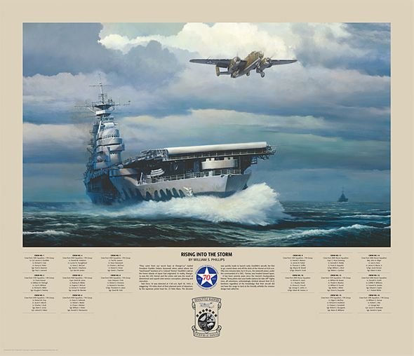 "William Phillips Doolittle Raiders Limited Edition Print and Canvas:""Rising Into The Storm"""