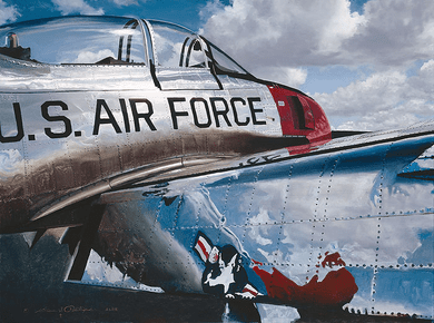 """William Phillips Hand Signed and Numbered Limited Edition Canvas Giclee :""""Air Force Reflections"""""""