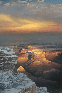 """William Phillips Hand Signed and Numbered Limited Edition Canvas Giclee :""""Winter Splendor """""""