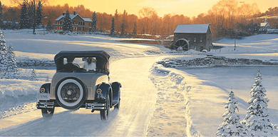 """William Phillips Handsigned and Numbered Limited Edition Canvas Giclee:""""A Christmas Leave, When Dreams Come True"""""""