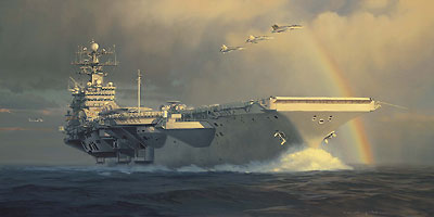 "William Phillips Handsigned and Numbered Limited Edition Canvas Giclee: ""Out of the Squall Line"""
