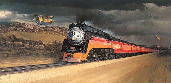 """William Phillips Handsigned and Numbered Limited Edition Masterwork Anniversary Edition Canvas Giclee:""""Chasing the Daylight"""""""