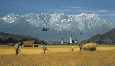 """William Phillips Handsigned & Numbered Limited Edition Anniversary Giclée Canvas:""""Low Pass for the Home Folks"""""""