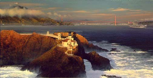 "William Phillips Limited Edition Print: ""Point Bonita - Last Light"""