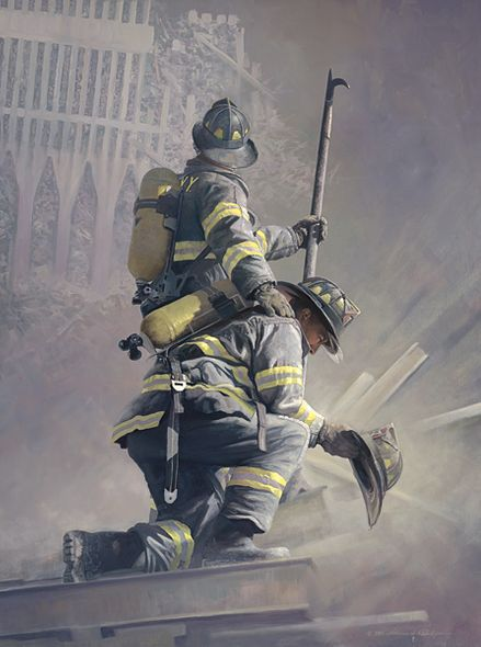 """William Phillips Open Edition Canvas:""""A Prayer for My Brother"""" - Benefits National Fallen Firefighters Foundation Benefit"""