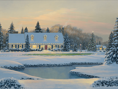 """William S. Phillips Handsigned and Numbered Fine Art SmallWorks™ Giclée Canvas:""""Christmas on the Eighth"""""""