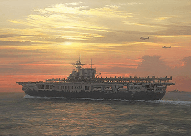 "William S. Phillips Handsigned and Numbered Personal Commission® Print Countersigned by the Surviving Doolittle Raiders :""Toward the Setting Sun"""