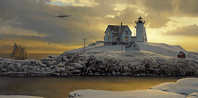 """William S. Phillips Handsigned & Numbered Limited Edition Print:""""Cape Neddick Dawn """""""