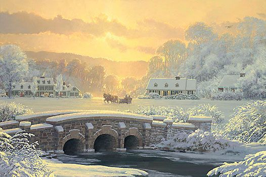 "William S. Phillips Handsigned & Numbered Limited Edition Print:""Sleigh Ride At Apple Creek"""