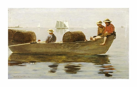 "Winslow Homer Fine Art Open Edition Giclée:""Three Boys in a Dory"""