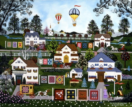 """Wooster Scott Hand Signed and Numbered Limited Edition Print: """"The Quilts of Cod"""""""