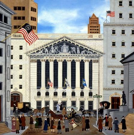 """Wooster Scott Hand Signed and Numbered Limited Edition Print: """"The Stock Exchange"""""""