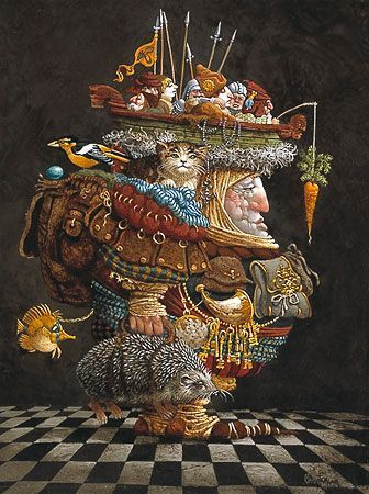 "James Christensen Limited Edition Infinity Aluminum Giclee:""The Burden of the Responsible Man"""